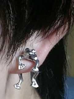 すかるさんの左耳のボディピアス写真