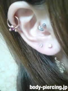 ぱんだ(19)さんの左耳のボディピアス写真