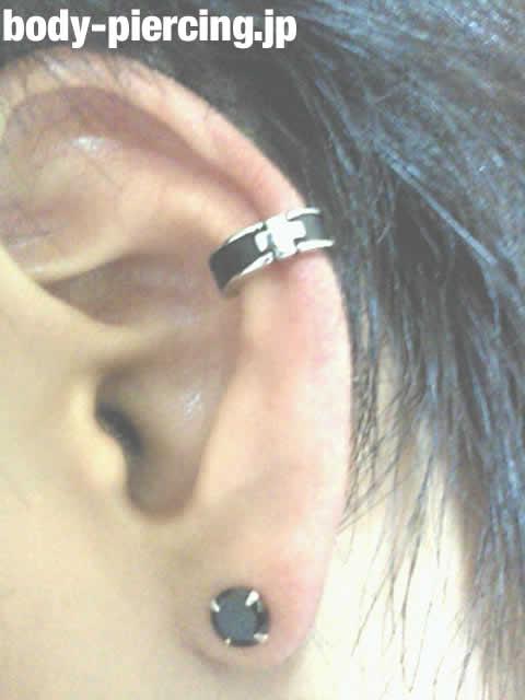 初心者(´Д`)さんの左耳のボディピアス写真